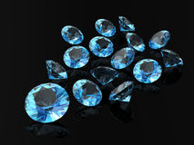 Aquamarine. (high resolution 3D image Stock Photography