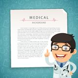 Aquamarine Medical Background with Doctor Royalty Free Stock Photos