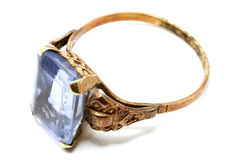 Aquamarine ring 2 Stock Images