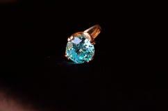 Aquamarine ring Royalty Free Stock Photos