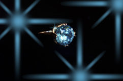 Aquamarine ring Stock Image