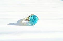 Aquamarine ring Royalty Free Stock Photo