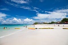 Aquamarine sea and white sand beach in Pattaya stock photos