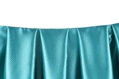Aquamarine silk drapery. Royalty Free Stock Photo