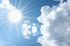 Aquamarine sky Stock Images