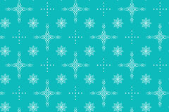 Aquamarine vector seamless texture with crosses Stock Images