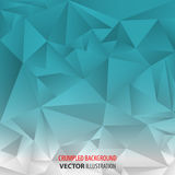 Aquamarine and white  crumpled abstract background Royalty Free Stock Images