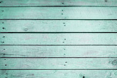 Aquamarine wooden background texture Stock Images