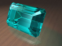 aquamarinegemstone royaltyfria bilder