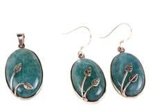 aquamarinejewelery Arkivfoto