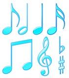 aquamusikalsymboler Arkivbild