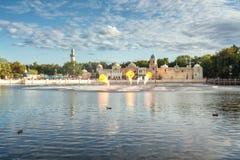 Aquanura巨大水展示在主题乐园Efteling 免版税库存图片