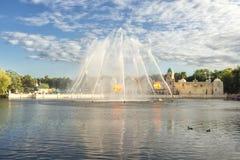 Aquanura巨大水展示在主题乐园Efteling 免版税库存照片