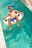 aquapark乐趣夏天 库存照片
