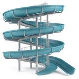 Aquapark被隔绝的幻灯片管 皇族释放例证
