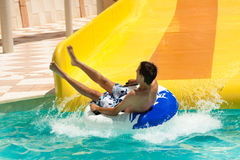 aquapark καλοκαίρι διασκέδαση&s Στοκ Εικόνες