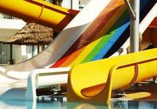 aquapark κατασκευή Στοκ εικόνα με δικαίωμα ελεύθερης χρήσης