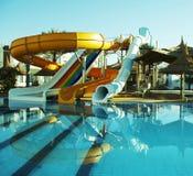 aquapark κατασκευή Στοκ φωτογραφία με δικαίωμα ελεύθερης χρήσης
