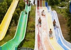 aquapark οι κατασκευές συγκ&epsilo Στοκ φωτογραφίες με δικαίωμα ελεύθερης χρήσης