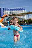 aquapark παιδί Στοκ εικόνες με δικαίωμα ελεύθερης χρήσης