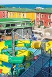 Aquapark στην ακτή Μαύρης Θάλασσας σε Kranevo, Βουλγαρία Στοκ Εικόνα