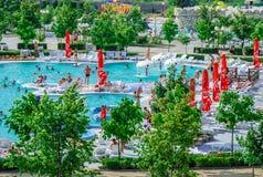 Aquapark στην πόλη Berdyansk, Ουκρανία Στοκ εικόνες με δικαίωμα ελεύθερης χρήσης