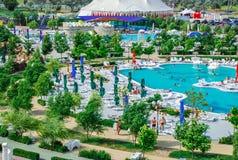 Aquapark στην πόλη Berdyansk, Ουκρανία Στοκ φωτογραφία με δικαίωμα ελεύθερης χρήσης