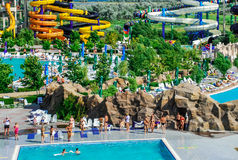Aquapark στην πόλη Berdyansk, Ουκρανία Στοκ φωτογραφίες με δικαίωμα ελεύθερης χρήσης