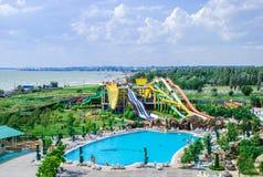 Aquapark στην πόλη Berdyansk, Ουκρανία Στοκ Εικόνα