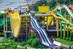Aquapark στην πόλη Berdyansk, Ουκρανία Στοκ Φωτογραφίες