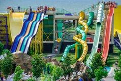 Aquapark στην πόλη Berdyansk, Ουκρανία Στοκ Εικόνες