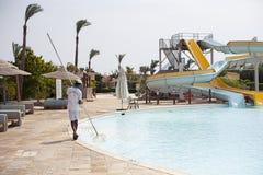 Aquapark στο δημοφιλές ξενοδοχείο Αίγυπτος Στοκ Εικόνες