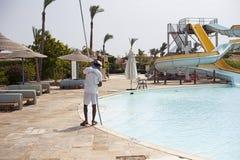 Aquapark στο δημοφιλές ξενοδοχείο Αίγυπτος Στοκ Εικόνα