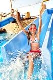 aquapark ύδωρ φωτογραφικών διαφανειών παιδιών Στοκ Φωτογραφία