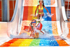 aquapark ύδωρ φωτογραφικών διαφ&alph Στοκ φωτογραφίες με δικαίωμα ελεύθερης χρήσης
