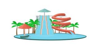 Aquapark illustration de vecteur