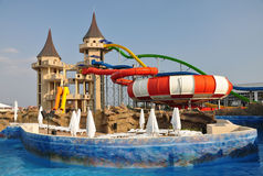 Aquapark. Stockfoto