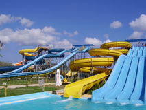 Aquapark Fotografie Stock