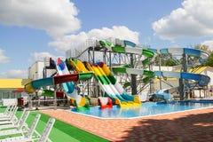 Aquapark bez ludzi Obraz Royalty Free