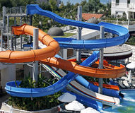 Aquapark constructions Stock Photography