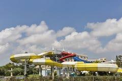 Aquapark del aire abierto en Chipre Foto de archivo libre de regalías