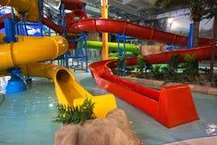 Aquapark dell'interno Fotografia Stock Libera da Diritti