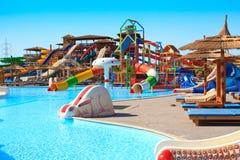 Aquapark do hotel Fotografia de Stock