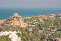 Aquapark nahe bei Atlantis die Palme in Dubai lizenzfreies stockbild