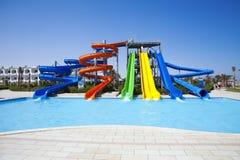 Aquapark Plättchen Stockbilder