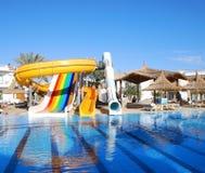 Aquapark at popular hotel Royalty Free Stock Photos