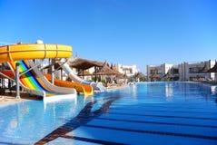 Aquapark at popular hotel Royalty Free Stock Images