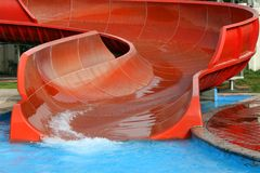 AQUAPARK SLIDE. In water park royalty free stock photos