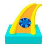 Aquapark slide cartoon icon. On a white background Royalty Free Stock Photography