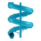 Aquapark slide tube isolated Royalty Free Stock Photos